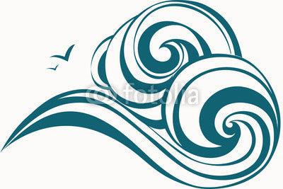 Waves decorative Wall Decal