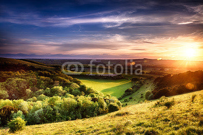 Winchester hill sunset Wall Mural