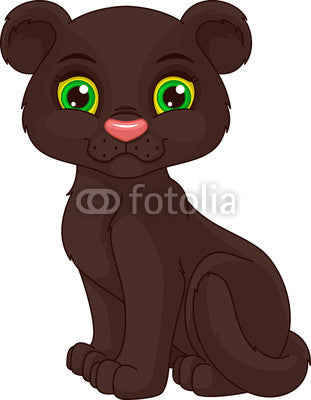 Panther Cub Wall Decal