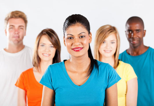 Group Multiracial People White