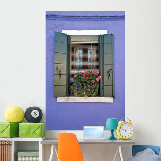 Colorful Burano Italy Window