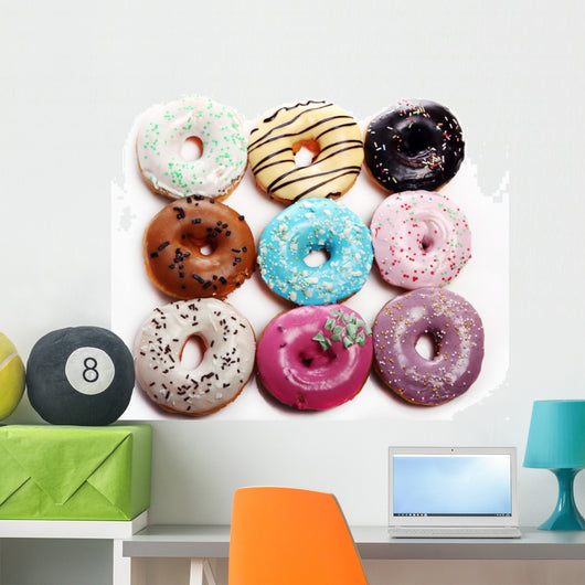 Colorful tasty donuts Wall Decal