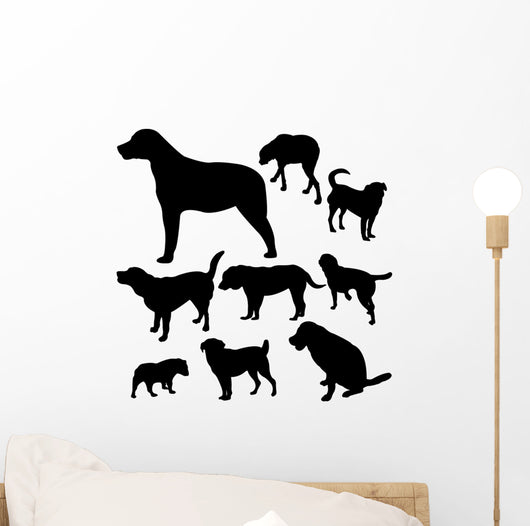 Dogs Vector Wall Decal