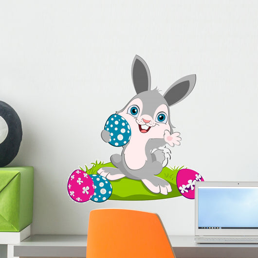 Easter Bunny width eggs Wall Decal