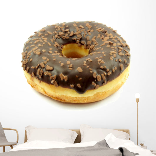 Chocolate doughnut Wall Decal