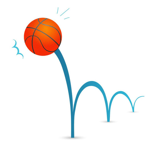 Bouncing Basketball Ball Illustration