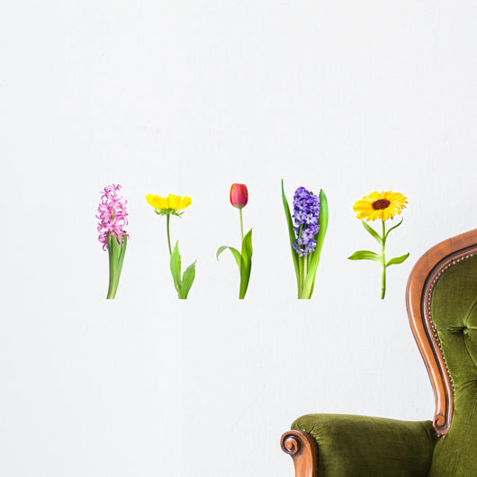Collection of spring flowers Wall Decal