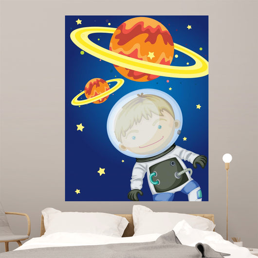 Astronaut Space Wall Mural