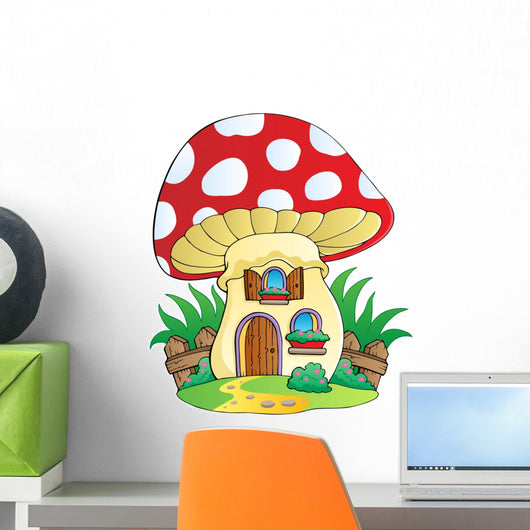 Mushroom House Wall Decal