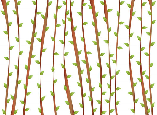 Stems with Leaves Wall Mural