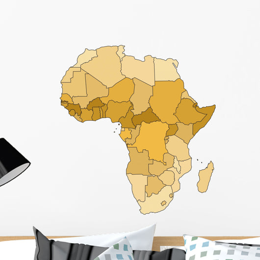 Africa Map Wall Decal