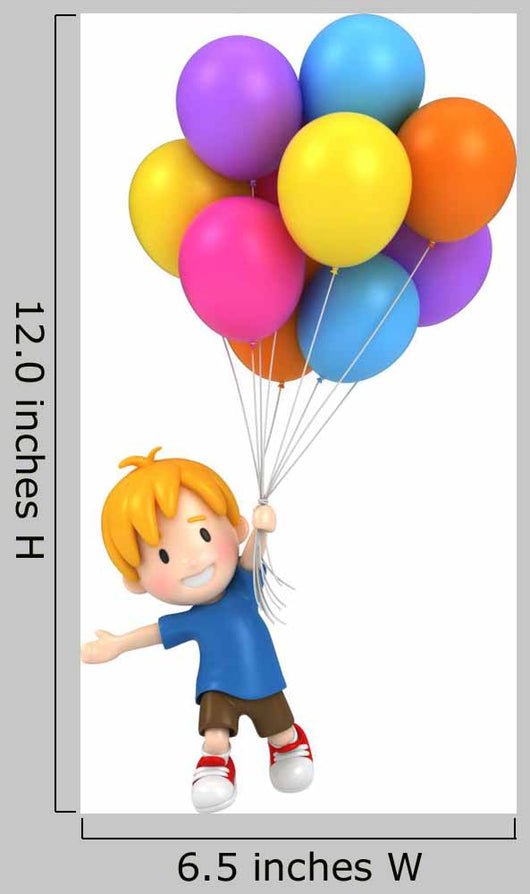 Floating Kid with Balloons Wall Decal