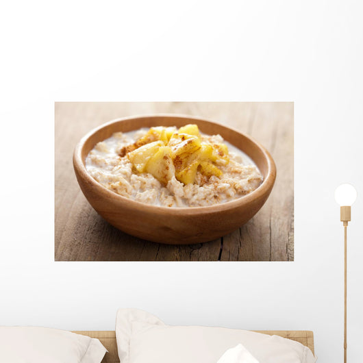 cereal with caramelized apple Wall Mural