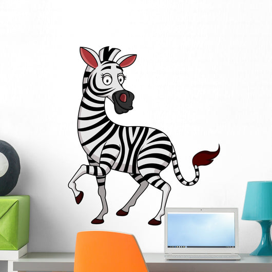 Zebra Cartoon Wall Decal
