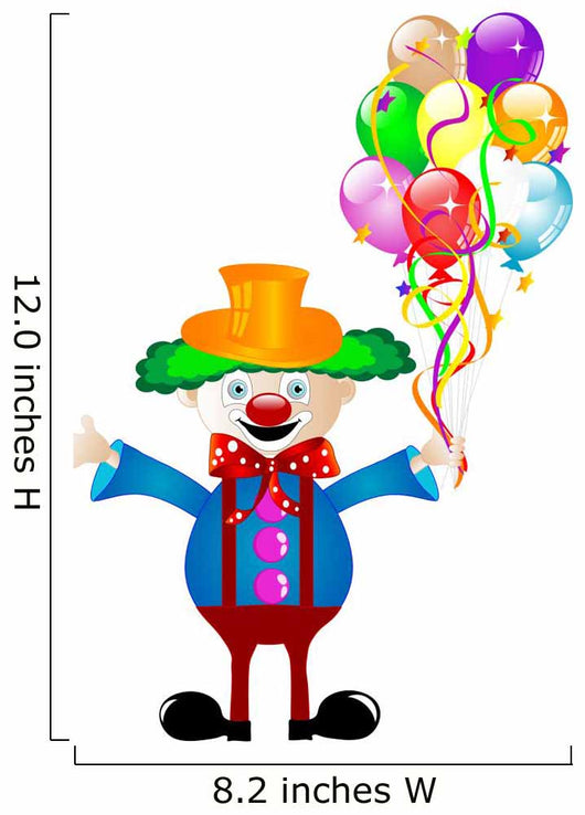 Clown with Balloons Wall Decal Sticker Set