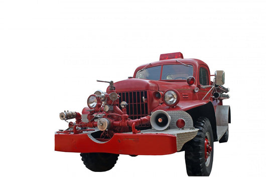 Antique Fire Truck Wall Decal