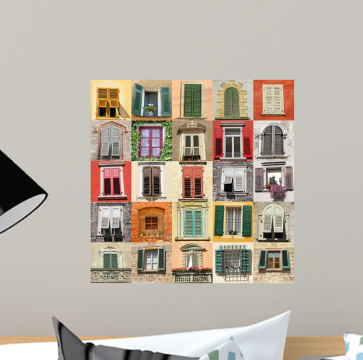Collage with Old Windows Wall Mural – WallMonkeys com