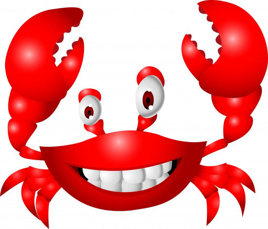 Funny crab cartoon Wall Decal