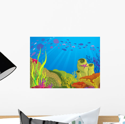 Colored Coral Reef and