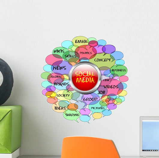 Social Network and Media Wall Decal