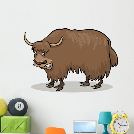 cartoon Yak Wall Decal
