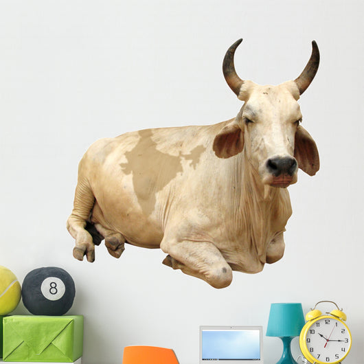 India - sacred cow (with india map) Wall Decal