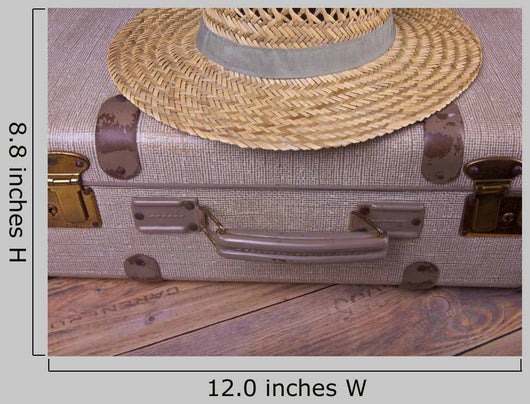 Suitcase Sun Antique Retro