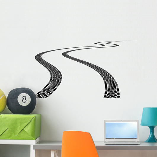 Tire Track Wall Decal