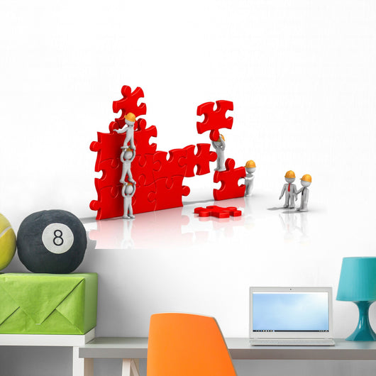 Teamwork for Construction Puzzle Wall Decal