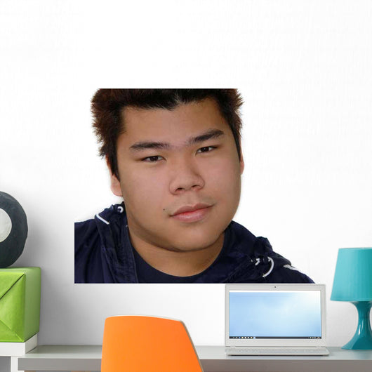 Smiling Asian Teenage Boy Wall Decal