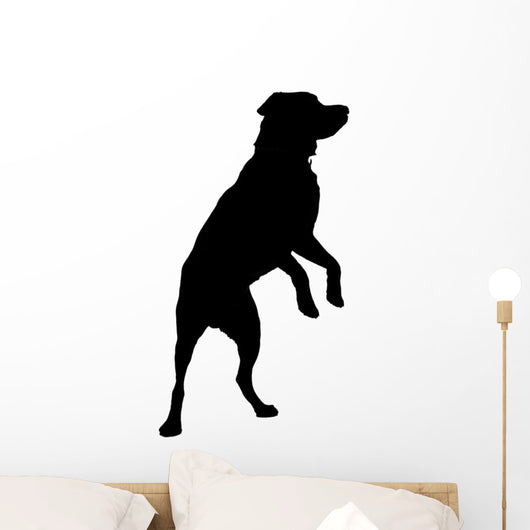 Silhouetted Labrador Wall Decal