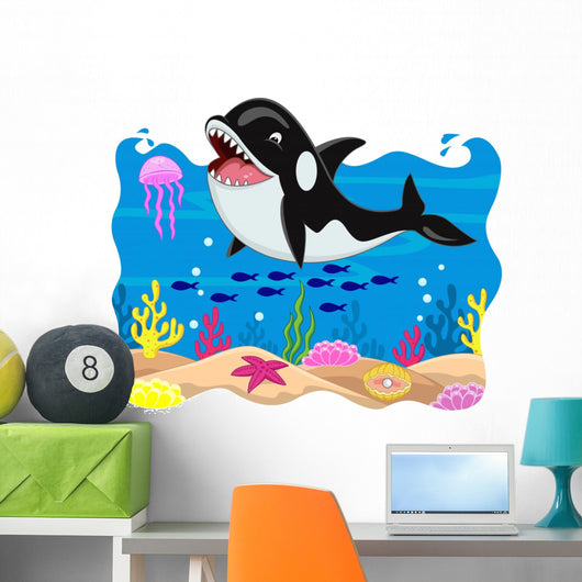 Killer Whale Carton Wall Mural