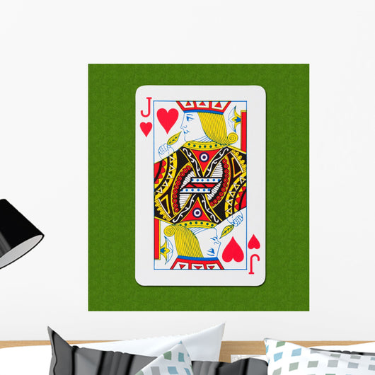 Play Card Heart Wall Mural