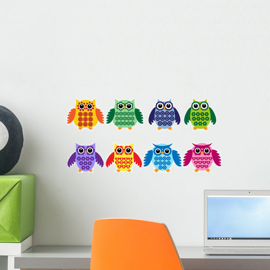 Colorful owls Wall Decal