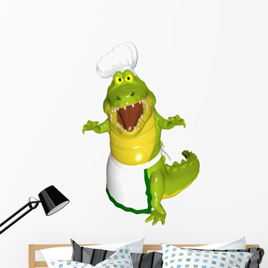 Alligator Chef - Attack Wall Decal