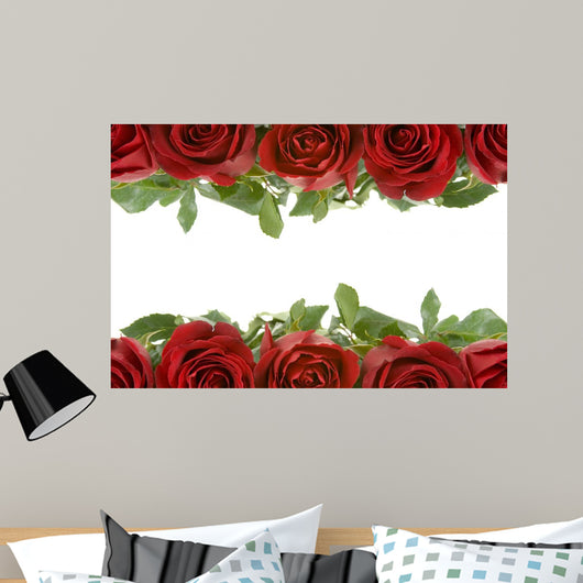 Border Red Roses Wall Mural