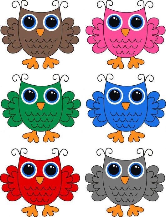 Owls Colorful Wall Mural