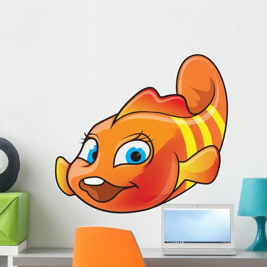 Cartoon of Clown-fish Wall Decal