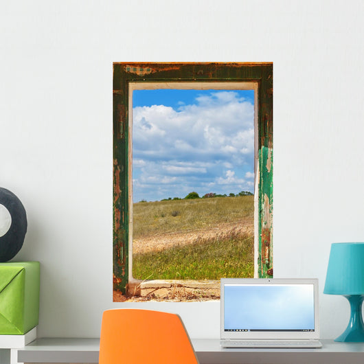 View the Landscape From the Old Window Wall Mural