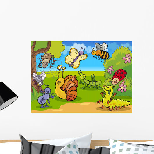 Cartoon Insects Meadow