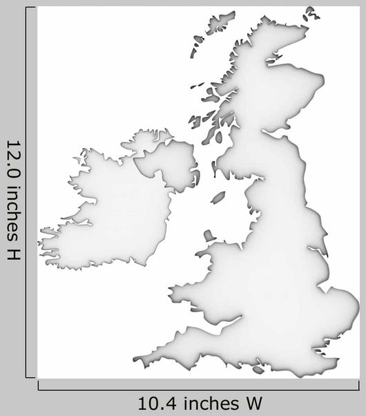 United Kingdom Map Wall Mural