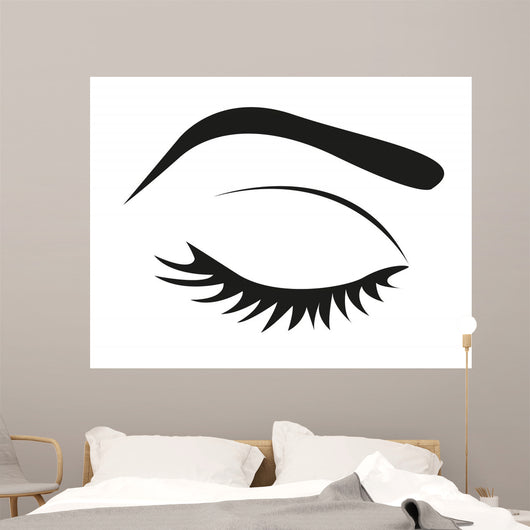 Silhouette Eye Lashes and Wall Mural