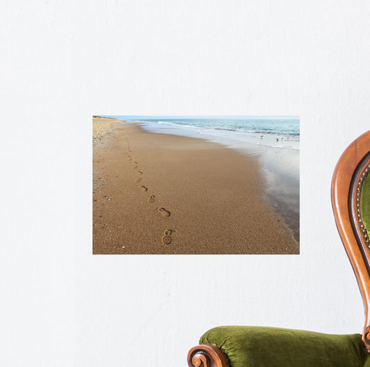 Footsteps on a Beach in North Carolina Wall Mural