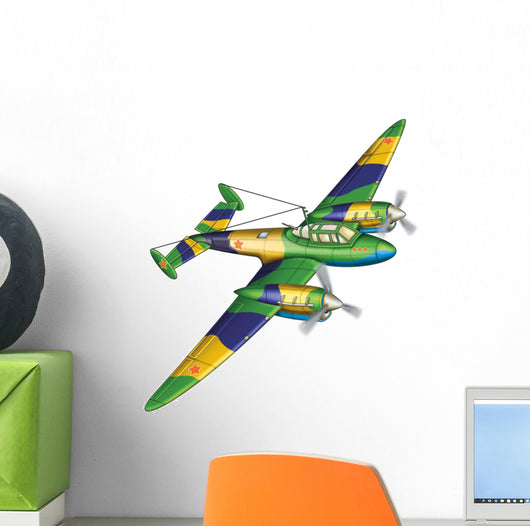 The plane Wall Decal