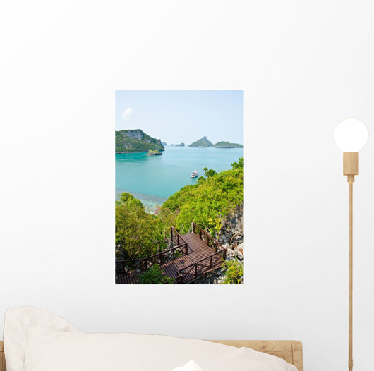 Island and Sea in Gulf of Thailand Wall Mural