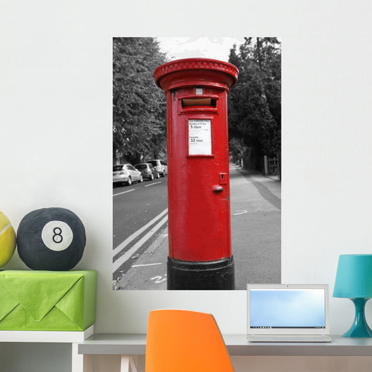 Red Post Box Wall Mural