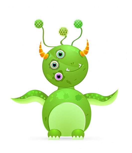 Green Cute Monster with