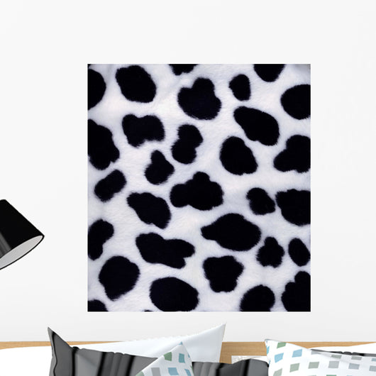Artificial Black-And-White Fur Wall Mural