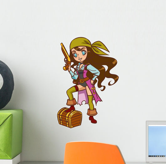 Chibi Cartoon Pirate Girl