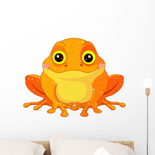 Fun zoo. Golden Toad Wall Decal
